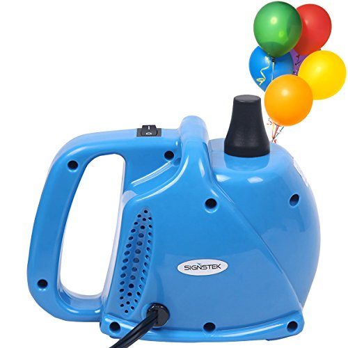 Signstek Luftballonpumpe elektrisch 300 Watt Aufblasgerät für Luftballons *Blau*