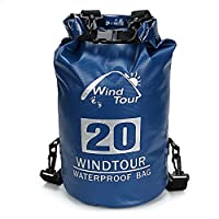 DOHOT Heavy Duty Roll Top 20L Waterproof Floating Dry Bag,Water Resistant Storage Dry Compression Sack for Kayaking,Water Sports,Boating,Rafting,Camping,Hunting,Hiking