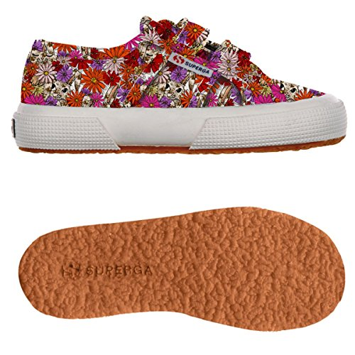 Superga 2750-FANTASY COVJ S001W80 Unisex - Kinder Sneaker Flowers Rubbit