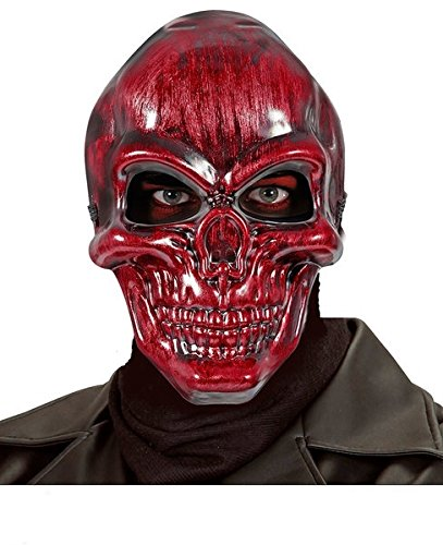 Maske Skull Metallic (RED METALLIC SKULL MASK FOR HALLOWEEN FANCY DRESS)