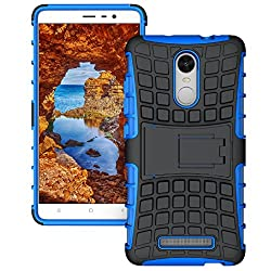 PES Shock Proof Protective Rugged Armor Super Hybrid Heavy Duty Back Case Cover For Xiaomi Redmi Note 3 - Power Blue