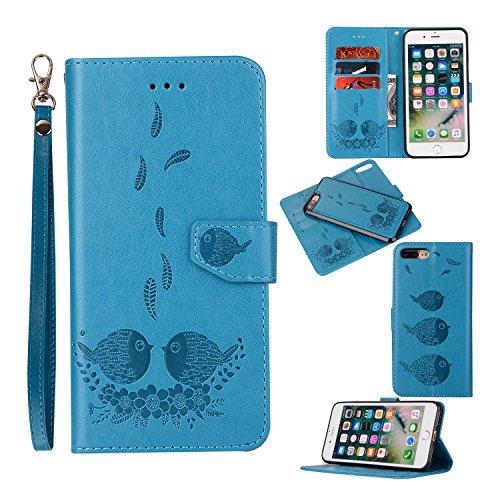 iphone 6s Hülle,iphone 6s Ledertasche im Ständer Bookstyle Case für iphone 6/6s Tasche Hülle Leder Etui,Schwarz [Geschenk:2.5D Panzerglas Displayschutzfolie iphone 6/6s] Blau