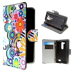 Per LG L Fino (D290N / D295) , ivencase 2 Portafoglio Fiore Stile PU Leather Stand Flip Protective Protective Case Cover Per LG L Fino (D290N / D295)