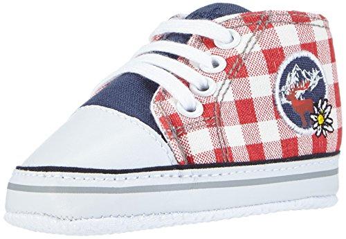 Playshoes Baby Turnschuhe, Sneaker Kariert, Chaussures Bébé quatre pattes (1-10 mois) mixte bébé Multicolore (marine 11)