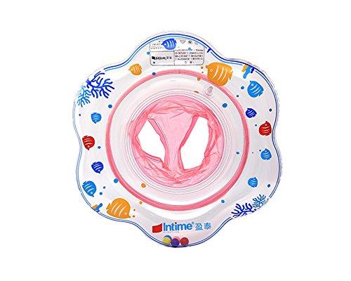 Uclever bambino seggiolino gonfiabile sicurezza piscina galleggiante anello di nuotata (rosa)