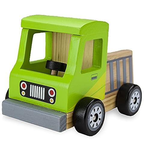 Roulettes en bois Bois de hêtre naturel camionnette par Imagination génération