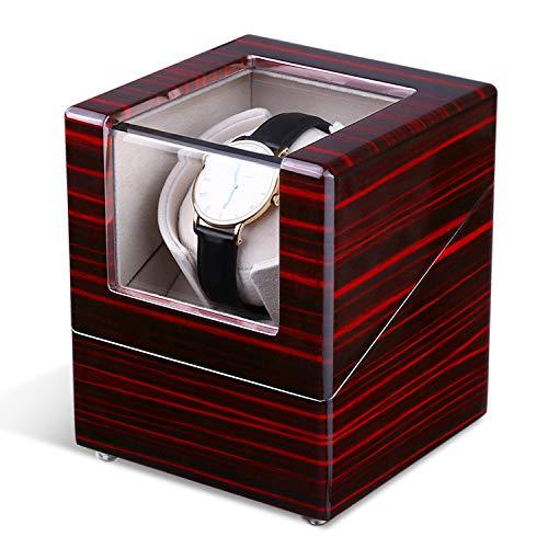 INTEY Uhrenbeweger NY-008 1 Uhr Uhrendreher Uhrenbox mit verschiedenen Bewegungs-Modi, AC-Adapter enthalten, flüsterleise
