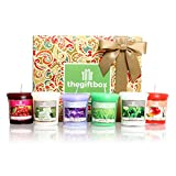 Relax and Unwind with a Scented Candle Gift Set Containing Six Fragranced Votive Wax Candles in an Array of Uplifting Aromas. Scented Candles Make Ultimate Gifts for Women, Great Gifts for Her or Perfect Women's Gifts