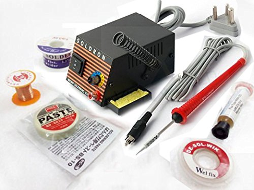 Buyyart BART_16 Original Soldron Variable Wattage Micro Soldering Station Kit with Solder Wire, Paste  available at amazon for Rs.1490