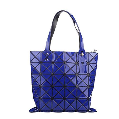 Form Geometrische Paket Cube Folding Variety-Schulter-Beutel Art Und Weise Beiläufige Handtasche Darkblue