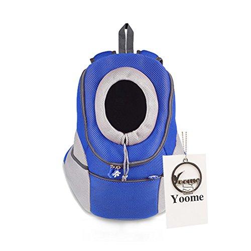 Yoome Stil mit Hund Katze Haustier-Rucksack mit Front-Tasche für kleine Hunde-Fahrrad, Wandern, Outdoor -