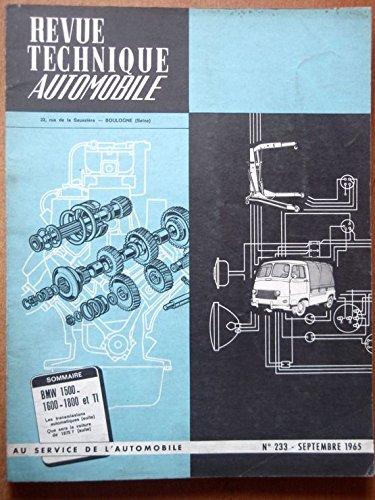 Revue Technique Automobile N° 233, Bmw 1500 - 1600 - 1800 Et Ti