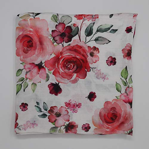 Bambus Musselin Pucktuch Roses, Bamboo Muslin Swaddle Roses, Premiumqualität, extra-weich -