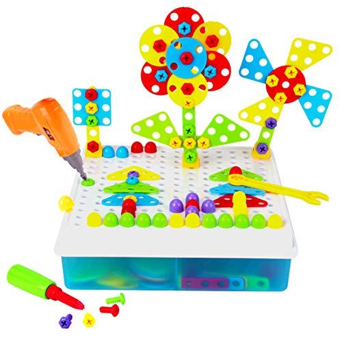 Batop 190Pcs Mosaique Puzzle Enfant - 3D Jouet à Visser...
