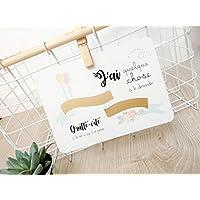 Carte postale à gratter : Demande marraine - Modèle Fanions dorés