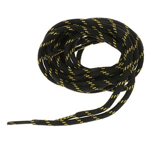 1 paire 154cm Lacets Durables à Haute Résistance pour Chaussures de Randonnée - Noir et les Pois Jaunes