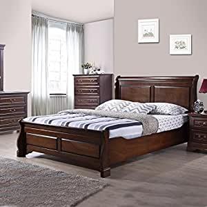 Royal Oak Sydney Queen Size Bed (Cappuccino)
