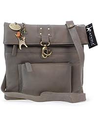 Catwalk Collection Handbags - Bandolera de cuero para mujer