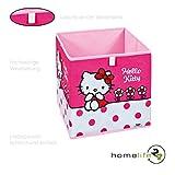H24living Faltbox Hello Kitty Flower die ideale Aufbewahrungsbox Regalbox für das Kinderzimmer Spielzimmer in Rosa - läßt Mädchenherzen schneller schlagen
