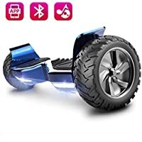 COLORWAY Elektroscooter 8.5Inches 2 Wheels Self Balancing Electric Scooter Auto Self Balancing with Bluetooth Speaker,Mobile APP and LED Light