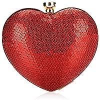 willtop con perline paillettes rosso a forma di cuore borsetta party abiti da sera o da borsa