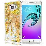 GrandEver Coque Dure PC pour Samsung Galaxy A3 2016 A310 Housse Glitter Briller Sable Étoiles Paillettes Etui Slim Cas Plastique Rigide Back Cover Haute Qualité Case Couverture Anti-Choc Anti Rayures --- Jaune