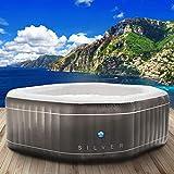 Jacuzzi Netspa « Silver » - Gonflable - Pour 5 personnes - Dimensions : 195 x 195 cm - 130 buses de massage - Chauffage - Fonction de gonflage par pression du bouton - 850 l - Massages bien-être