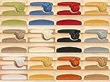 Kettelservice-Metzker® Stufenmatten, Treppen-Teppich Halifax Halbrund Rot 14 Stück
