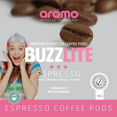 Aromo 'BUZZ LITE' - ESE Coffee Pods - Award Winning Decaf ESE Pods - 100 Pk