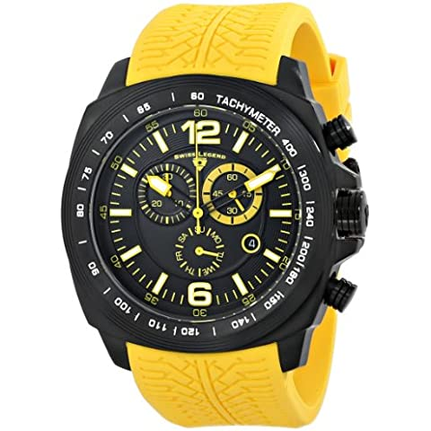 Swiss Legend hombres de 21046-bb-01-yas Sprinter pantalla analógica Swiss reloj de cuarzo amarillo