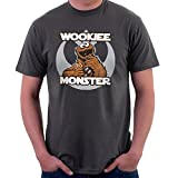 Wookie Monster Chewbacca Cookie Star Wars Sesame Street Mens T-Shirt