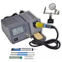 Festnight 48W Digital Estación de Soldadura Profesional 150-450℃ Pantalla LED, Función Bloqueo Temperatura, Alcanza Calentar Rápida