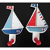 Boat Nautical Themed Bedroom Bathroom Beach Hut Coat Hook x 2