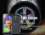 ykooe Galaxy S5 Hülle,S5 Hülle (TPU Series) Dual Layer Hybrid Handyhülle Drop Resistance Handys Schutz Hülle mit Ständer für Samsung Galaxy S5 (Rot) Vergleich