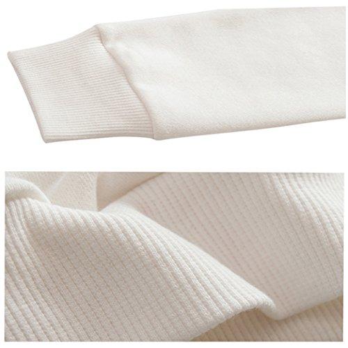 Yeesea Donna Autunno Felpe Con Cappuccio Maglie A Manica Lunga Felpa Crop Top Maglione Pullover Bianco