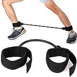 Tiaobug Widerstandsbänder Fitnessbänder Latex Resistance Band für Bein Schenkel Training Expander Workout PowerBand (Schwarz)