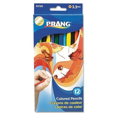 Prang Colored Pencils, 3.3 Millimeter, 7 Long, 12 Color Set by Prang