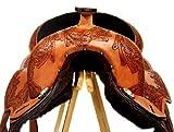 Baumloser Westernsattel INDIANA aus Büffelleder mit Klettkissen, Größe:16 Zoll - 2