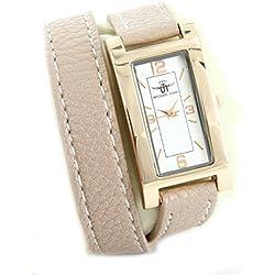 Zeigt Frau und Leder beige rosé double-bracelet Michael John 2217