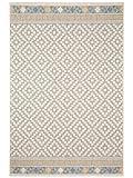 Benuta In- & Outdoor Teppich Star Geometrisch Taupe 160x230 cm | Pflegeleichter Teppich Geeignet für Innen- und Außenbreich, Balkon und Terrasse