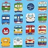 Blaues Wachstuch mit Zügen