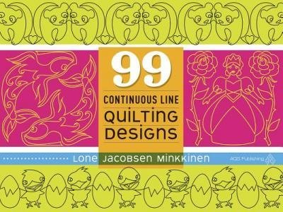 [{ 99 Continuous Line Quilting Designs By Minkkinen, Lone Jacobsen ( Author ) Aug - 26- 2014 ( Paperback ) } ] -