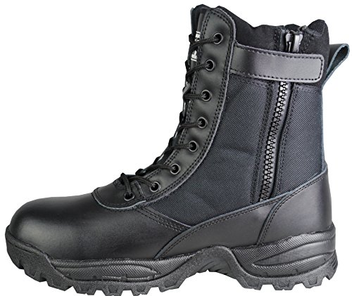 Savage Island SavageOps Leather Side Zip Army Patrol Tactical Combat Boots