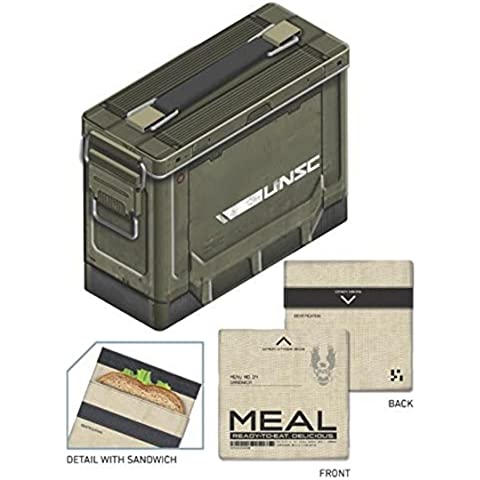 Halo 4 Porta Merenda Lunch Box Ammo Crate A Crowded (Crate & Barrel Water)