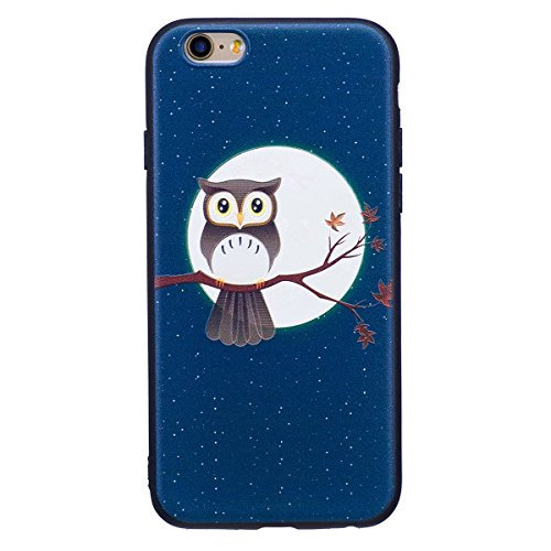 """MOONCASE iPhone 6/iPhone 6s Coque, [Relief Pattern] Flexible TPU Protection Housse Ultra Slim Armure Anti-choc Defender Etui Case pour iPhone 6/iPhone 6s 4.7"""" Butterfly Owl"""
