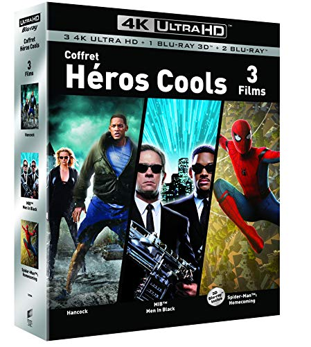COFFRET SUPER HEROS 4K UHD - Hancock / Spider-man : Homecoming / Men in Black - Exclusif Amazon [Blu-ray]