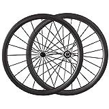 ESTTON 700C Carbon Lightweight Rennrad Laufräder 38mm Tief 23mm Breit Clincher Ready Klettern & sprinten