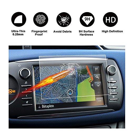 RUIYA Protector de pantalla de vidrio templado (2017) Toyota Yaris XP13 Touch 2 sistema de navegación,Crystal Clear HD Protector de pantalla-7 Pulgadas