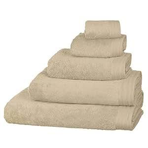 Just Contempo - Asciugamano 100% cotone egiziano pettinato, grammatura 600 g/mq, asciugamano 50 x 85 cm (morbido per bambini), Beige