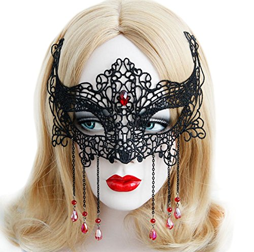 Demarkt Augenmaske Sexy Spitze Augen Maske für Halloween Party Schwarz (Sexy Halloween Augen)